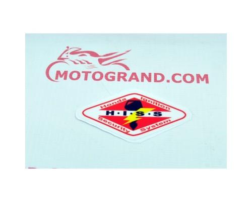 Наклейка на бак Hiss Honda