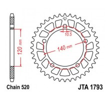 Зірка задня JTA1793.45