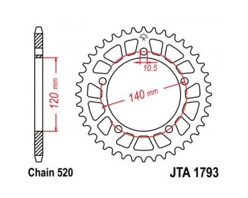 Зірка задня JTA1793.43
