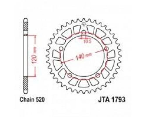 Зірка задня JTA1793.47