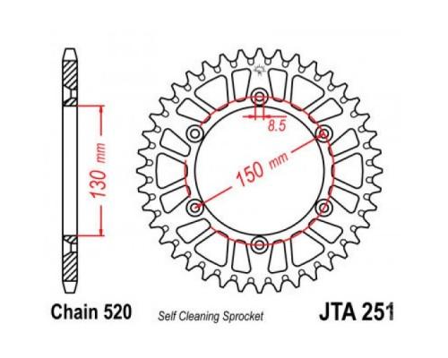 Зірка задня JTA251.48
