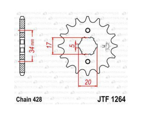 Зірка передня JTF1264.17