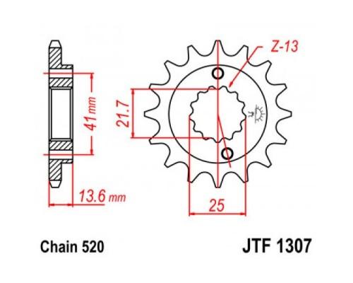Зірка передня JTF1307.15