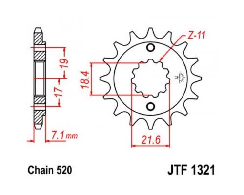 Зірка передня JTF1321.13