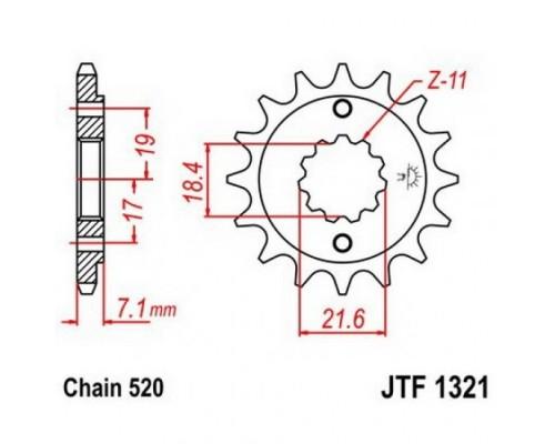 Зірка передня JTF1321.14