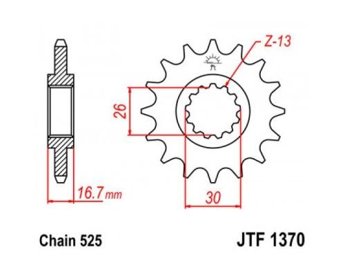 Зірка передня JTF1370.15