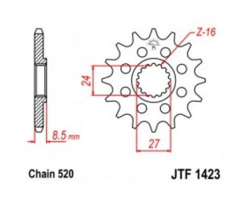 Зірка передня JTF1423.16