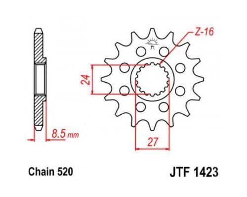 Зірка передня JTF1423.17