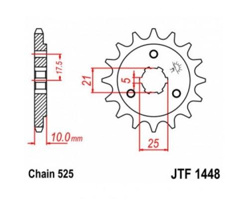 Зірка передня JTF1448.15