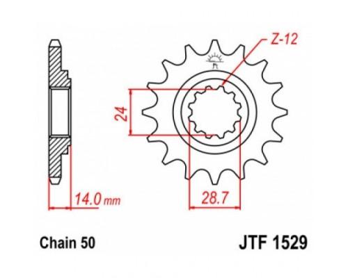 Зірка передня JTF1529.17