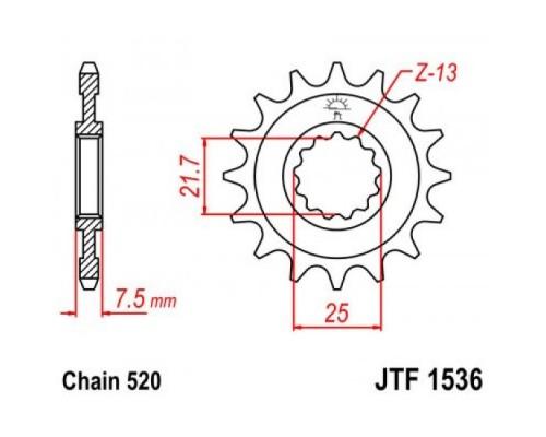 Зірка передня JTF1536.15
