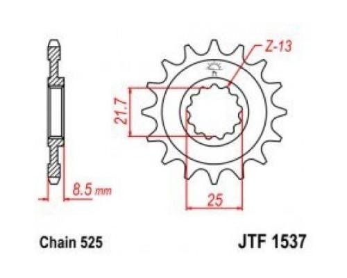 Зірка передня JTF1537.16