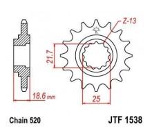 Зірка передня JTF1538.15
