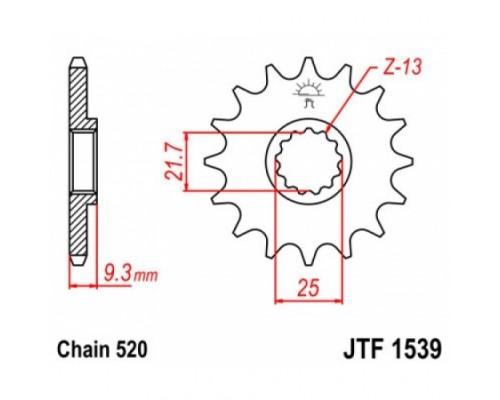 Зірка передня JTF1539.14
