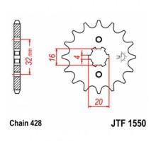 Зірка передня JTF1550.14