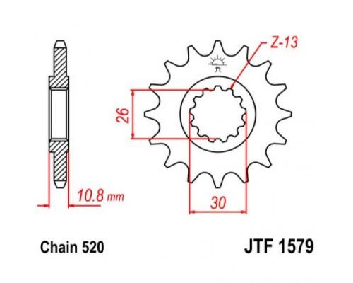 Зірка передня JTF1579.16