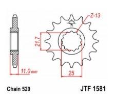 Зірка передня JTF1581.13