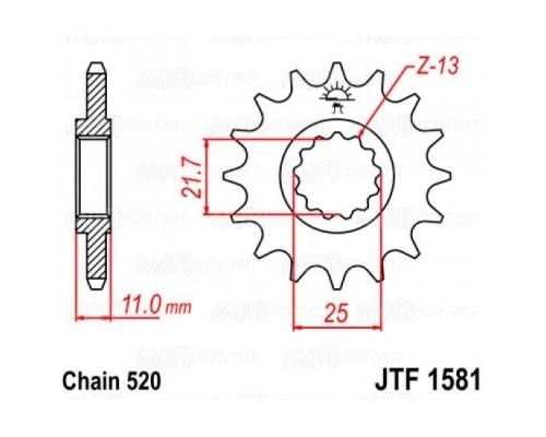 Зірка передня JTF1581.15