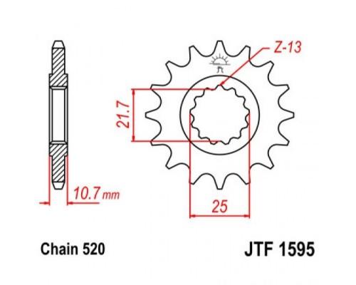 Зірка передня JTF1595.16