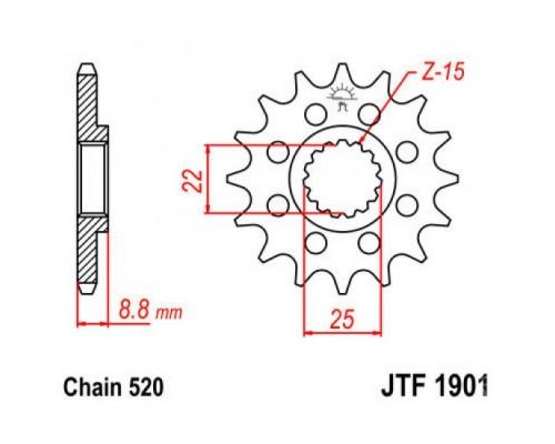 Зірка передня JTF1901.13SC