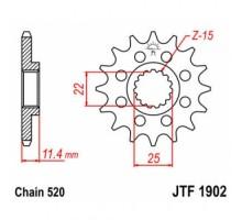 Зірка передня JTF1902.17