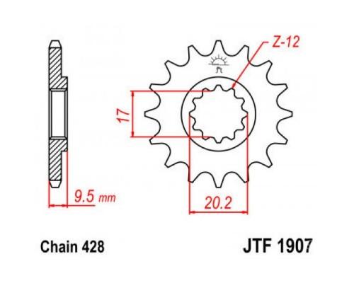 Зірка передня JTF1907.13
