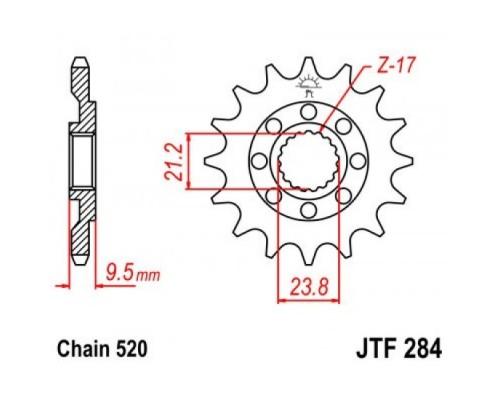 Зірка передня JTF284.12