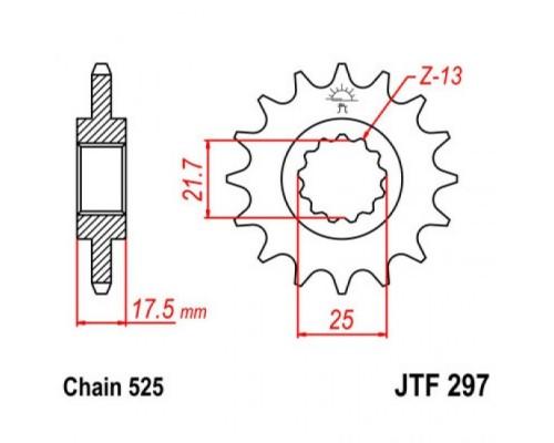 Зірка передня JTF297.15