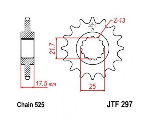 Зірка передня JTF297.16