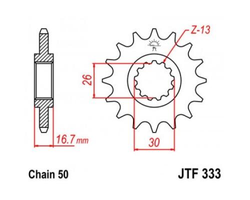 Зірка передня JTF333.15