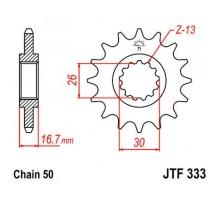 Зірка передня JTF333.16