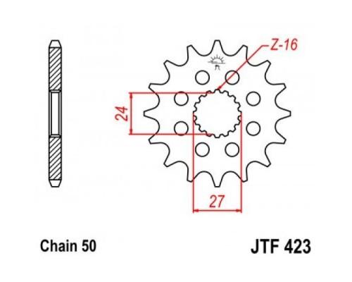 Зірка передня JTF423.17