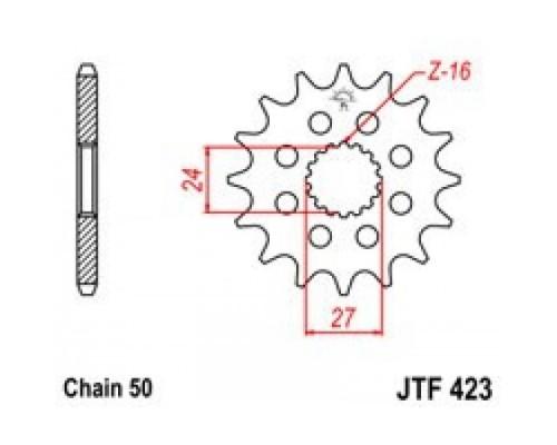 Зірка передня JTF423.18