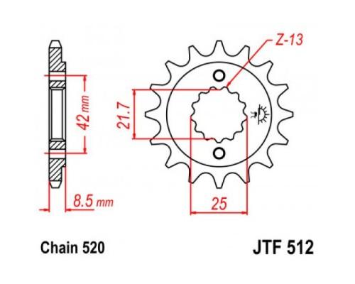 Зірка передня JTF512.17