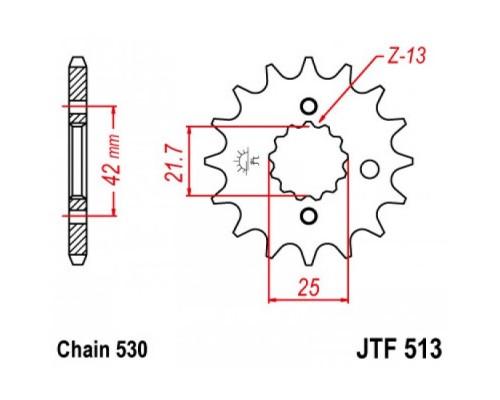 Зірка передня JTF513.17