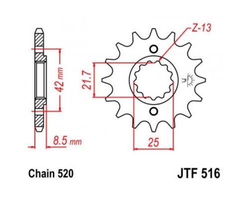 Зірка передня JTF516.16