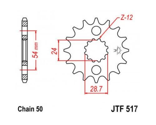 Зірка передня JTF517.18
