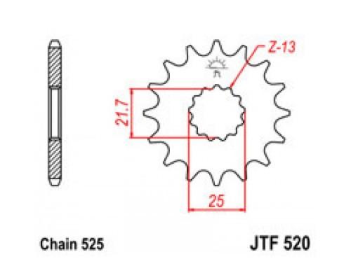 Зірка передня JTF520.17