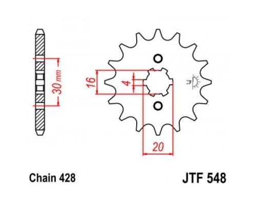 Зірка передня JTF548.14