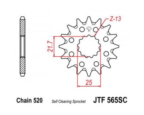 Зірка передня JTF565.14SC