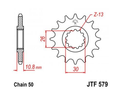 Зірка передня JTF579.17