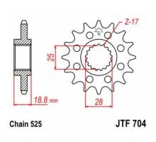 Зірка передня JTF704.17
