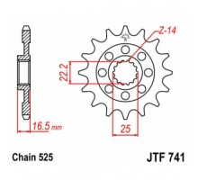 Зірка передня JTF741.15