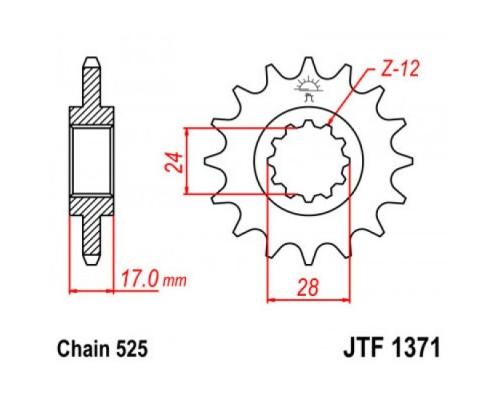 Зірка передня JT JTF1371.14